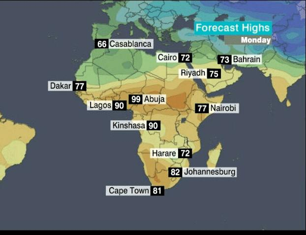 Weather Map Of Africa | Jackenjuul