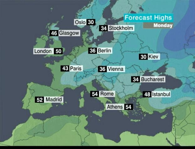 CNNcom Weather - Us weather map temperature celsius