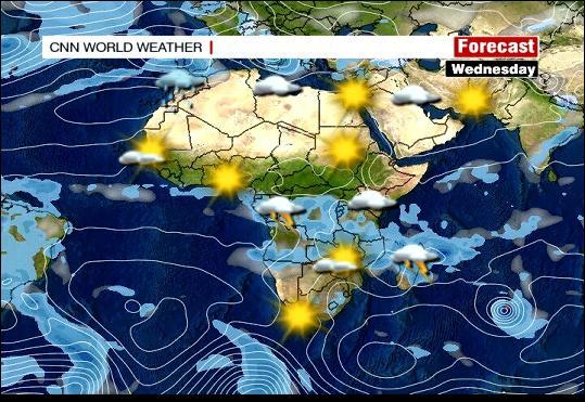 Wetterlage Afrika/Arabien von CNN