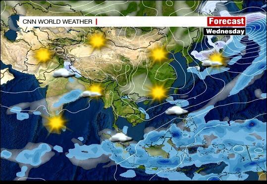 Wetterlage Asien von CNN