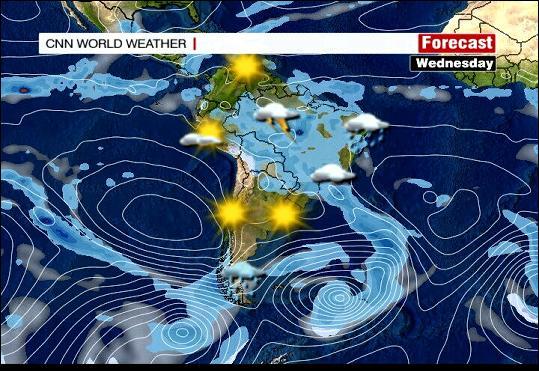 Wetterlage Südamerika von CNN