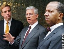 From left: Virginia Gov. Mark Warner, Maryland Gov. Parris Glendening and Washington Mayor Tony Williams