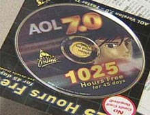 AOL uses discs like this one to try to get customers to sign on.