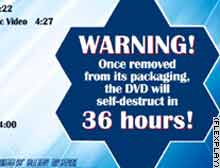 New DVDs with disappearing content were used to promote the latest James Bond movie.