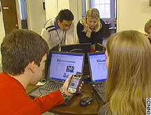 Students designed programs to find restaurants and clubs in Athens, Georgia.