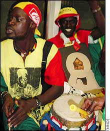 Winners are grinners: Senegal fans party the night away
