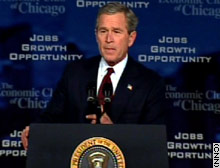 Bush delivers speech Tuesday to Economic Club of Chicago.