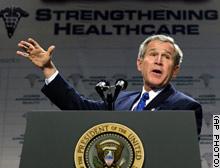 President Bush decries