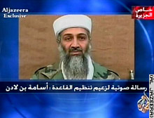 Al-Jazeera broadcast a 16-minute audiotape, purportedly recorded by Osama bin Laden, Tuesday.