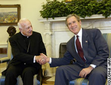 Bush and Laghi discuss the possible war with Iraq.