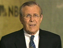U.S. Defense Secretary Donald Rumsfeld said the U.S. military campaign is working in Iraq.