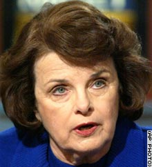 U.S. Sen. Dianne Feinstein says the recall election will set a bad precedent.