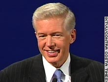 Gov. Gray Davis answered questions in the first part of the televised debate.