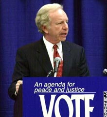 Sen. Joseph Lieberman during an appearance Friday in Michigan.