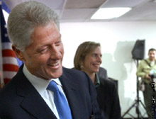 Former President Clinton said Thursday that the pharmaceutical companies