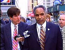 Philadelphia Mayor John Street talks with a reporter.