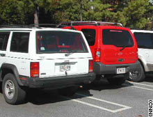 Sport-utility vehicles fill campus parking lots.