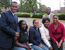 Student leaders organize activities to increase awareness of political issues before the 2004 election.