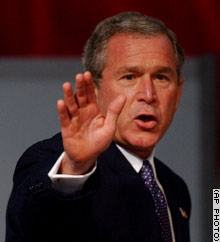 President Bush could fall in the polls once a Democratic nominee emerges, according to a memo from the president's pollster.