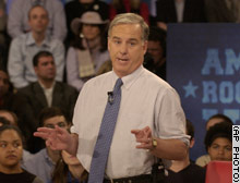 Democratic presidential candidate Howard Dean addresses his statement about voters who display the Confederate flag during the Rock the Vote debate Tuesday.
