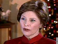 First lady Laura Bush: