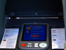 A model of an e-voting machine.