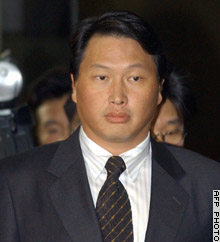 Chey Tae-won is the son-in-law of former President Roh Tae-woo.