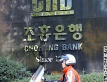 South Korea's Chohung Bank jumped more than 6 percent Friday.