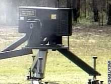 Metal Storm's high-speed gun, capable of firing at a rate of a million rounds a minute.