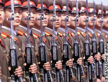 North Korea's massive military takes up most of the country's few resources.