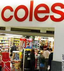 coles myer is australias largest retailer Melbourne, australia -- a possible takeover bid for coles myer ltd, one of australia's biggest retailers, is the latest sign that buyers with deep pockets are scouring the country for deals on .
