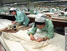 The United States capped some Chinese textile imports last month.