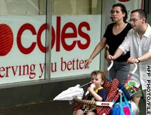 Coles Myer lifted sales 5.5 percent in its half-year to January 2003