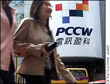 PCCW has about 82 percent of the fixed-line market in Hong Kong.
