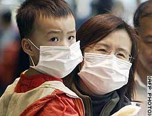 Many people in SARS affected areas have taken to wearing surgical masks as protection.