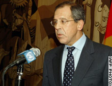 Russian ambassador and chain smoker Sergei Lavrov in atypical smoke-free pose.