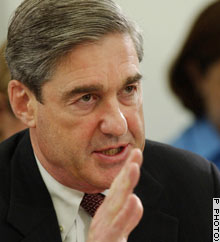 FBI director Robert Mueller testifying before a House panel Thursday.