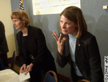 Barbara Grutter, left, and Jennifer Gratz, plaintiffs in the affirmative action cases.