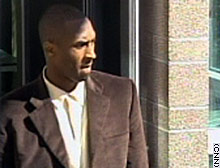 Kobe Bryant leaves the Eagle County courthouse Wednesday.