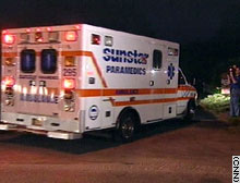 An ambulance returned Terri Schiavo to hospice care in Pinellas Park, Florida on Wednesday evening.