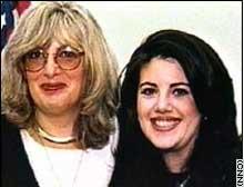 Linda Tripp, left, and Monica Lewinsky