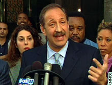 Jackson attorney Mark Geragos speaks to reporters Thursday.
