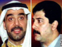Uday Hussein, left, and Qusay Hussein