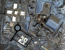 The Natanz facility is shown in this commercial satellite image.