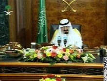 Crown Prince Abdullah announced the Saudi position in a televised address Tuesday.