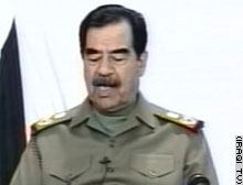 U.S. doubts remain over when Saddam's TV broadcast on Tuesday was taped.