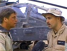 CNN's Ryan Chilcote with CWO Jeff Wellington