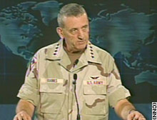 Gen. Tommy Franks conducts briefing Sunday.