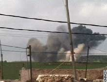 Coalition airstrikes drove Iraqi forces from their positions near Chamchamal.