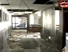 No one was hurt when coalition bombing damaged this Baghdad maternity hospital, the Red Cross says.